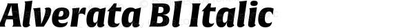 Alverata Bl Italic Version 1.001