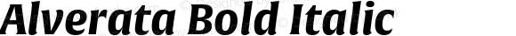 Alverata Bold Italic Version 1.001