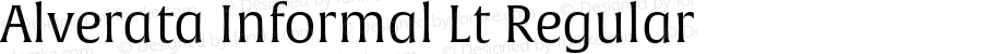 Alverata Informal Lt Regular Version 1.000