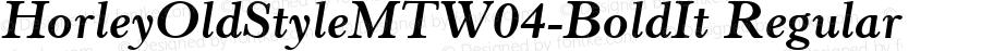 HorleyOldStyleMTW04-BoldIt Regular Version 1.00