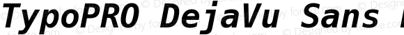 TypoPRO DejaVu Sans Mono Bold Oblique