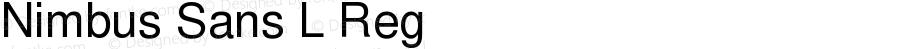 Nimbus Sans L Reg Version 3.00
