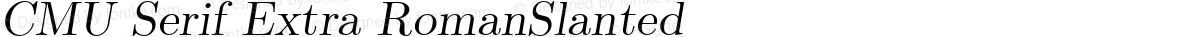 CMU Serif Extra RomanSlanted