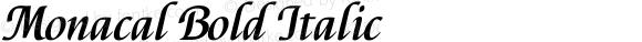 Monacal Bold Italic