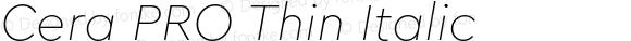Cera PRO Thin Italic