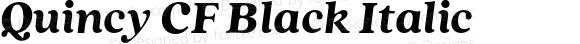 Quincy CF Black Italic