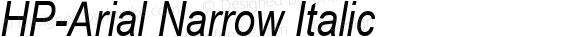 HP-Arial Narrow Italic 2