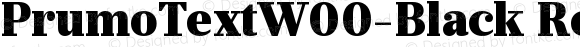 PrumoTextW00-Black Regular Version 1.10