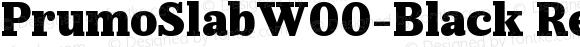 PrumoSlabW00-Black Regular Version 1.10