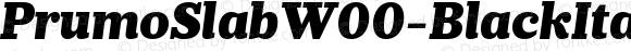 PrumoSlabW00-BlackItalic Regular Version 1.10