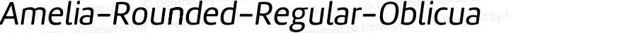Amelia-Rounded-Regular-Oblicua ☞ Version 001.001;com.myfonts.easy.tipotype.amelia-rounded.regular-oblicua.wfkit2.version.4ohq