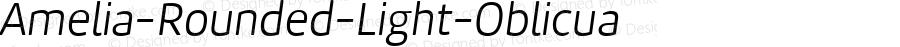 Amelia-Rounded-Light-Oblicua ☞ Version 001.001;com.myfonts.easy.tipotype.amelia-rounded.light-oblicua.wfkit2.version.4ohm