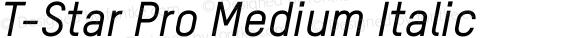 T-Star Pro Medium Italic