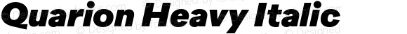 Quarion Heavy Italic