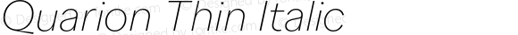 Quarion Thin Italic