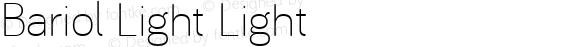 Bariol Light Light