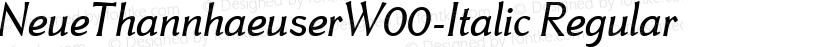 NeueThannhaeuserW00-Italic Regular Preview Image