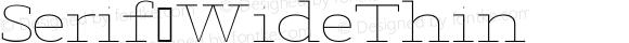 Serif WideThin