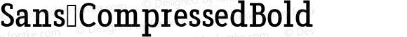 Sans CompressedBold