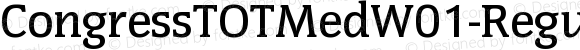 CongressTOTMedW01-Regular Regular Version 1.00