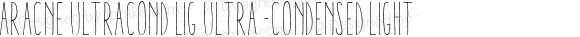Aracne UltraCond Lig Ultra-condensed Light