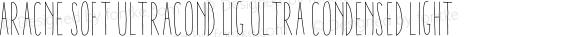 Aracne Soft UltraCond Lig Ultra Condensed Light