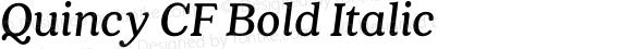Quincy CF Bold Italic