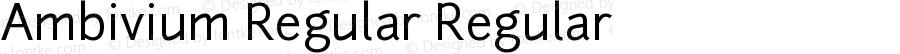 Ambivium Regular Regular Version 1.056