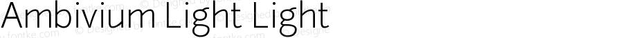 Ambivium Light Light Version 1.001