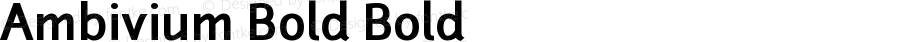 Ambivium Bold Bold Version 001.001