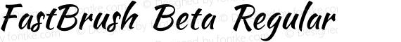 FastBrush Beta Regular preview image