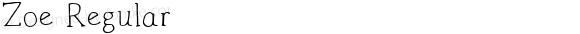 Zoe Regular Version 1