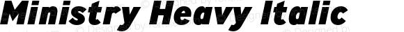 Ministry Heavy Italic