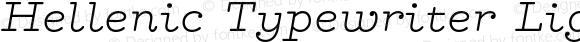 Hellenic Typewriter Light Italic