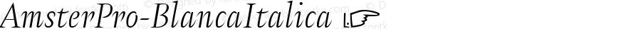 AmsterPro-BlancaItalica ☞ Version 1.000;PS 001.000;hotconv 1.0.70;makeotf.lib2.5.58329;com.myfonts.easy.pampatype.amster.pro-blanca-italica.wfkit2.version.4mQA