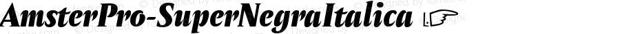 AmsterPro-SuperNegraItalica ☞ Version 1.000;PS 001.000;hotconv 1.0.70;makeotf.lib2.5.58329;com.myfonts.easy.pampatype.amster.pro-super-negra-italica.wfkit2.version.4mQJ