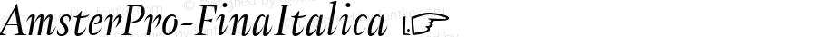AmsterPro-FinaItalica ☞ Version 1.000;PS 001.000;hotconv 1.0.70;makeotf.lib2.5.58329;com.myfonts.easy.pampatype.amster.pro-fina-italica.wfkit2.version.4mQC
