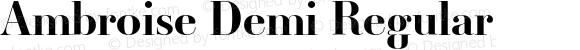 Ambroise Demi Regular Version 001.000