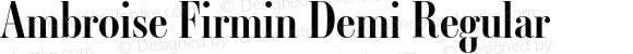 Ambroise Firmin Demi Regular Version 001.000