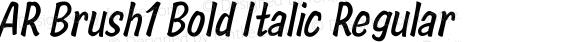 AR Brush1 Bold Italic Regular Version 2.10