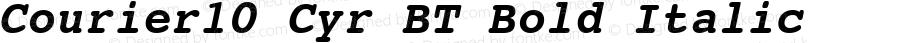 Courier10 Cyr BT Bold Italic Version 2.00 Bitstream Cyrillic Set
