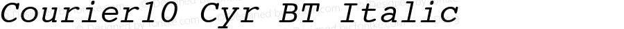Courier10 Cyr BT Italic Version 2.00 Bitstream Cyrillic Set