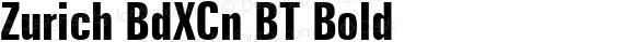 Zurich BdXCn BT Bold Version 2.001 mfgpctt 4.4