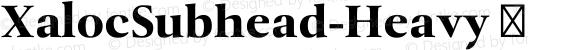 XalocSubhead-Heavy ☞