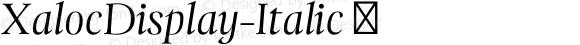 XalocDisplay-Italic ☞