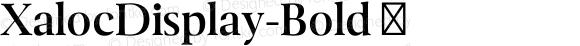 XalocDisplay-Bold ☞