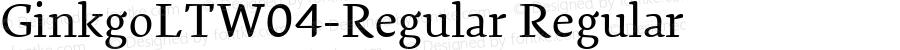 GinkgoLTW04-Regular Regular Version 1.10