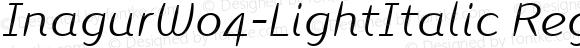 InagurW04-LightItalic Regular