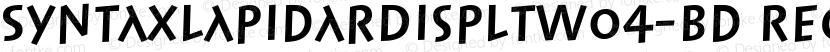 SyntaxLapidarDispLTW04-Bd Regular Preview Image