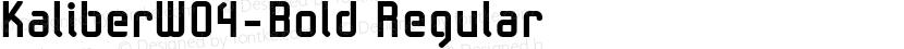 KaliberW04-Bold Regular Preview Image